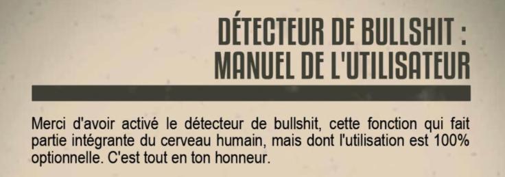 manuel detecteur bullshit