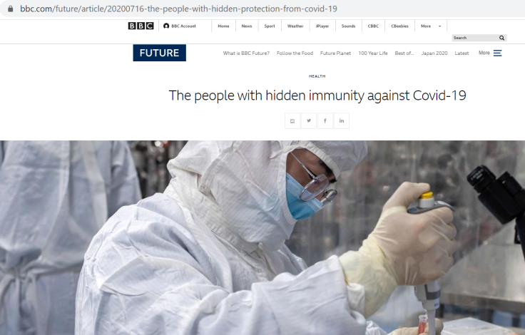 bbc article immunity