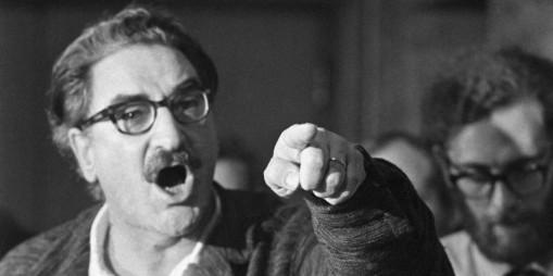 Michel Chartrand durant la crise d'Octobre